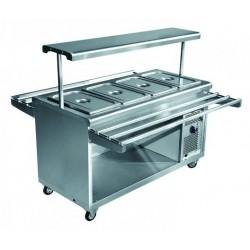 Прилавок холодильный ПВВ(Н)-70 ПМ-01-НШ (1500) передвижной, нерж. 210000000454
