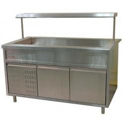 Прилавок холодильный (открытый) с полкой,нерж, ПВ(Н)О-1