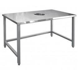 Стол для сбора отходов Abat ССО-4 (каркас крашеный)