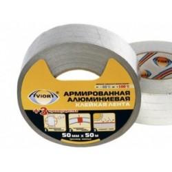 Лента алюминиевая армированная самоклеющаяся 50 мм * 50 м. AVIORA 302-047