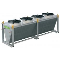 Воздушные конденсаторы микроканальные с осевыми вентиляторами или с ЕС-вентиляторами (V-образные) LUE-JMK