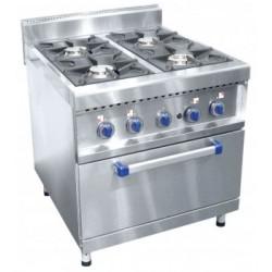 Газовая плита четырехгорелочная с духовкой (газовой) ПГК-49ЖШ