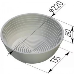 Хлебная форма круглая для расстойки 17Р-1