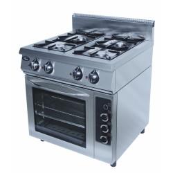 Плита газовая 4-х горелочная Grill Master с электрической духовкой духовкой Ф4ПДГ/800(э)