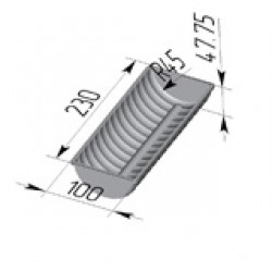 Форма для тостового хлеба цилиндрическая Волнистая