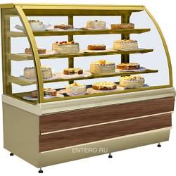 Витрина кондитерская ES-SYSTEM K CARINA 02 1,0 орех тоскана, золото
