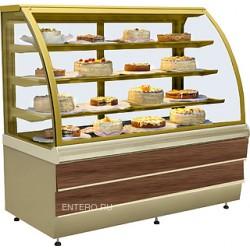 Витрина кондитерская ES-SYSTEM K CARINA 02 1,4 орех тоскана, золото