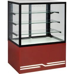 Витрина кондитерская UNIS Cube II 1000 красная