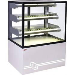 Витрина кондитерская UNIS Cube II 1000 static жемчужно-белая