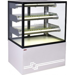 Витрина кондитерская UNIS Cube II 600 static жемчужно-белая