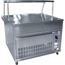 Прилавок холодильный АСТА(М) ПВВ(Н)-70КМ-НШ вся нерж плоский стол, нейтр шкаф (1120мм) 210000802820