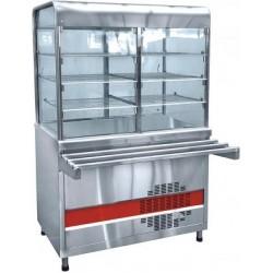 Прилавок-витрина холодильный АСТА(М) ПВВ(Н)-70 КМ-С-01-НШ вся нерж плоский стол (1500мм) 210000001021