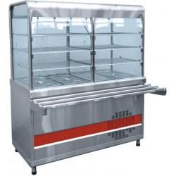 Прилавок-витрина холодильный АСТА(М) ПВВ(Н)-70 КМ-С-03-НШ вся нерж 210000001023