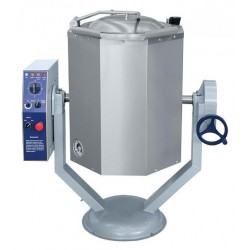 Котел пищеварочный КПЭМ-60-ОМР, нижний привод миксера (60 л, 100 °С, пар. рубашка, ручное опрокидывание) арт.110000011228