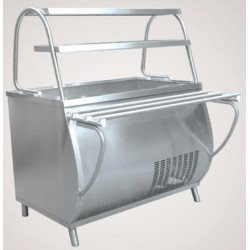 Прилавок холодильный ПАТША ПВВ(Н)-70 М-01-НШ вся нерж. 210000001328