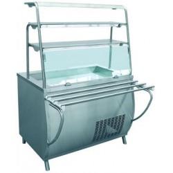 Прилавок холодильный ПРЕМЬЕР ПВВ(Н)-70Т-01-НШ нерж (фреон 404)  210000001427