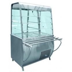Прилавок-витрина холодильный ПРЕМЬЕР ПВВ(Н)70Т-С-01-НШ нерж. 210000001429