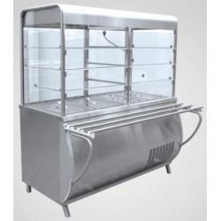 Прилавок холодильный ПАТША ПВВ(Н)-70 М-С-НШ,1500мм нерж.210000001502