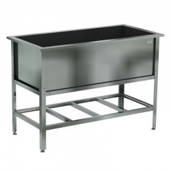 Ванна котломоечная сварная (ёмкость - нерж. сталь. aisi 430, каркас уголок нерж. сталь, сифон) 1000х530х870 ,(ёмкость 900х430х300)
