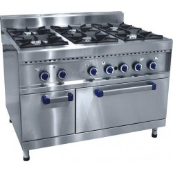 Плита газовая 6-ти горелочная ПГК-69-ЖШ с  газовой духовкой  210000801699